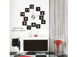 scattered diy art wall clock thecarpetshop