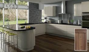 gray gloss kitchen cabinets treviso handleless kitchen doors