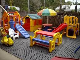 Backyard Play Area Ideas Play Area Built On A Deck Don U0027t Have To Worry About Moving Toys