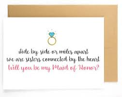 bridesmaid asking cards bridesmaid card of honor bridesmaid