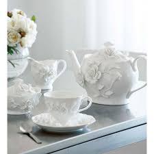 roses tea set rambling white tea set tea cups coffee cups and mugs