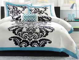 total fab black white and turquoise bedding