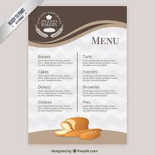 elegant menu template bakery vector free download