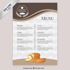 blank menu templates free menu template bakery vector free