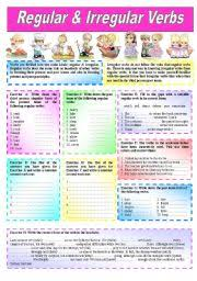 regular u0026 irregular verbs u201d explanations u0026 over 50 sentences