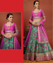 online shopping india bright pink lehega choli designer