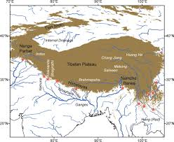 Himalayas On World Map by Estimation Of Atmospheric Co2 Uptake By Silicate Weathering In The