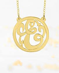Single Initial Monogram Necklace Initials Jewelry