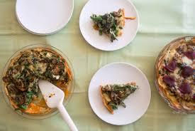 thanksgiving bounty veggie crustless quiche