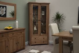 Dining Room Display Cabinets Nice Corner Living Room Decoration With Wooden End Table And Faux