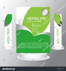 background tri fold business brochure cards stock vector 357659612