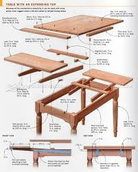 Expanding Square Table by 2620 Expanding Table Plans Furniture Plans Proje Planları