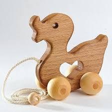 animal wood animal push toys hardwood wooden duck