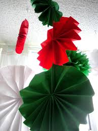 christmas tissue paper pom poms christmas party decor