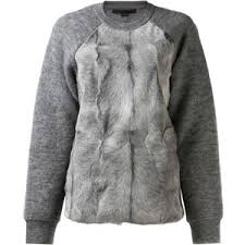 fur sweater wang goat fur front sweater polyvore