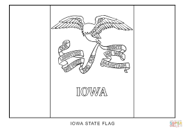 flag of iowa coloring page free printable coloring pages