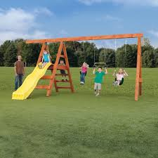 backyard discovery monticello cedar swing set ebay