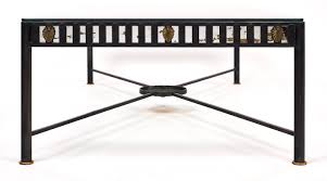 frame large coffee table art deco large iron coffee table jean marc fray