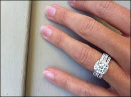 2 wedding bands halo engagement ring with 2 wedding bands wedding ideas