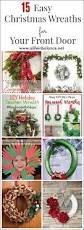 15 easy christmas wreaths for your front door a life in balance