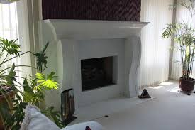 traditional white marbled concrete fireplace surround truecrete