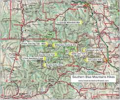 map of oregon mountains day hikes in the southern blue mountains