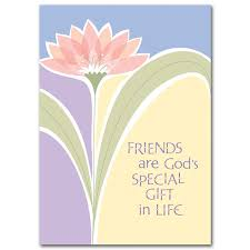 friends are god s special gift in friendship card
