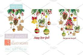 happy new year note cards watercolor set happy new year by mikheeva ekaterina on