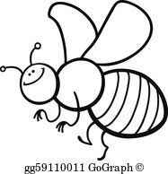 vector stock honey bee cartoon coloring book stock clip art