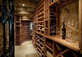 basement wine room wine cellar mediterranean with wrought iron