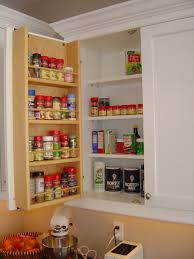 Kitchen Cabinet Storage Accessories Tedd Wood Spice Storage On Inside Of Cabinet Door Storage