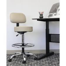 boss black caressoft medical stool with back cushion b245 bk the