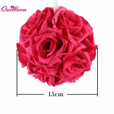 aliexpress com buy ourwarm 5pcs rose balls 15cm hanging flower