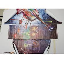 5 pieces frameless guitar music shape canvas printing wall art