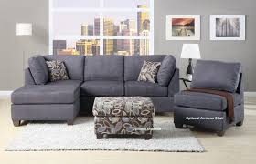 cozy gray sectional sofa with chaise lounge 88 in bassett