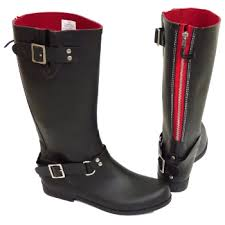womens boots size 11 and up womens black or wide calf biker zip up wellington rubber