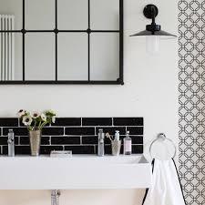 Bathroom Tile Backsplashes - Bathroom sink backsplash