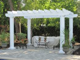 Shed Roof Over Patio by Pergola Unfinished Wooden Patio Pergolas Design Ideas Combine