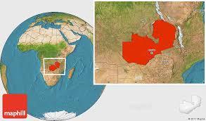 map of zambia satellite location map of zambia