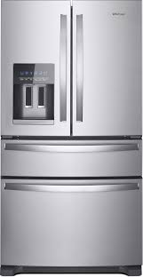 whirlpool wrx735sdhz 36 inch 4 door french door refrigerator with whirlpool wrx735sdhz 36 inch 4 door french door refrigerator with accu chill measured fill everydrop filtration tap touch controls led lighting ice