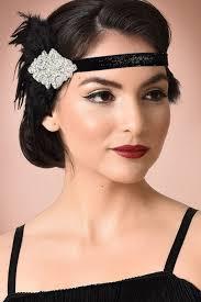 feather headband 1920s style flapper headbands headdresses wigs