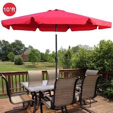 10 Foot Patio Umbrella Gothobby 10ft Outdoor Patio Umbrella Aluminum W Tilt