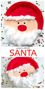 paper plate santa crafty kids craft and christmas art