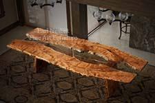 earl nesbitt fine furniture dining room table wood slab table
