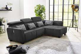 canapé imola canapé d angle imola ton noir sb meubles discount