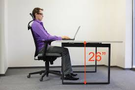 Desk Height Ergonomics Ergonomic Table Height For Laptops U0026 Desktops With Big Monitors