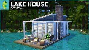 Modern Lake House The Sims 4 House Building Lake House Tiny 4x6 Grid Modern