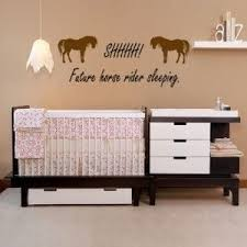 horse themed baby room