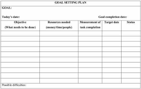 Goals And Objectives Template Excel Goal Planning Template A Year For A You Day 4 Of An