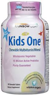 rainbow light kids one buy rainbow light kids one multivitamin 90 tab multi pack in